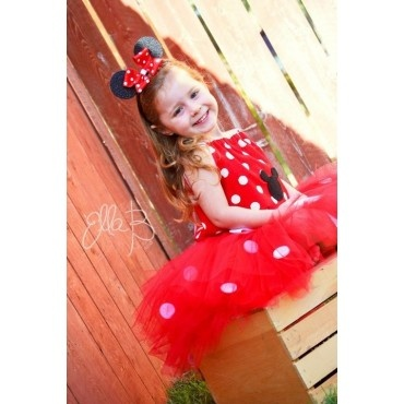 Little Minnie Mouse inspired tutu costume - kids