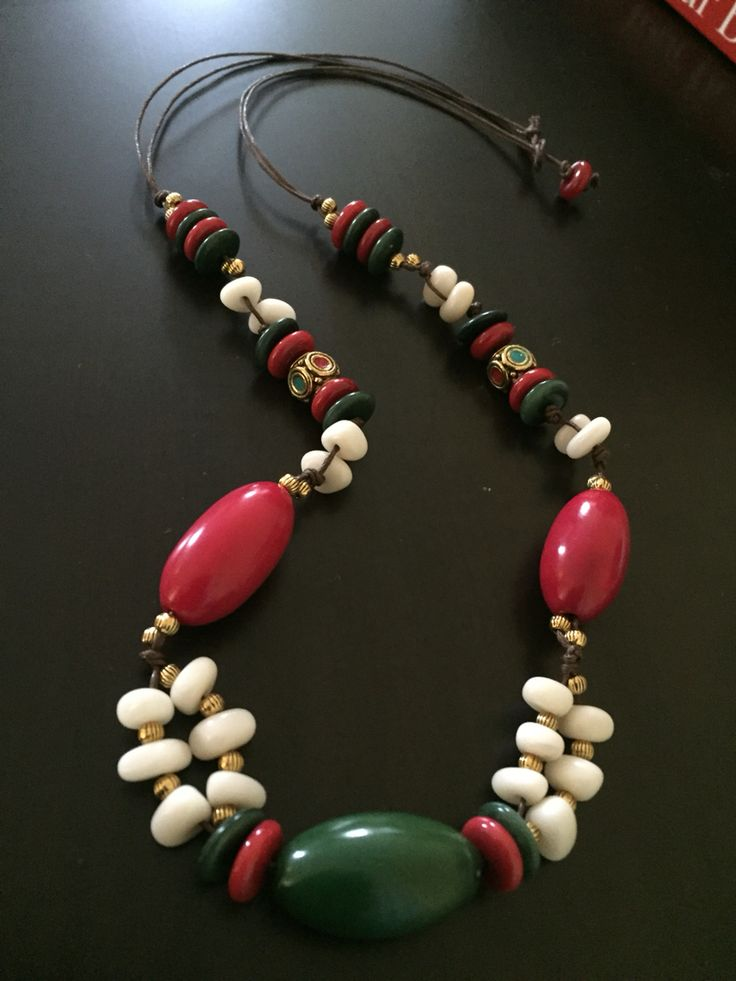 Handcrafted vegetable ivory necklace- eco friendly, animal friendly,  one-of-a-kind