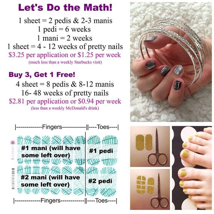 Jamberry nails--Jamberry on a budget?  Let's do the math! Http://taratemelko.jamberrynails.net