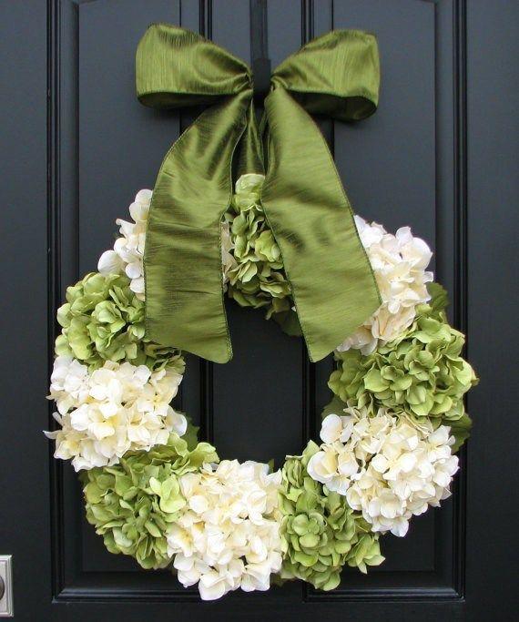 Beautiful Spring Hydrangea Wreath                                                                                                                                                                                 More