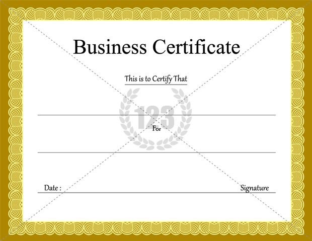 Superb Business Certificate Templates For Free Download | Certificate Templates With Business Certificates Templates
