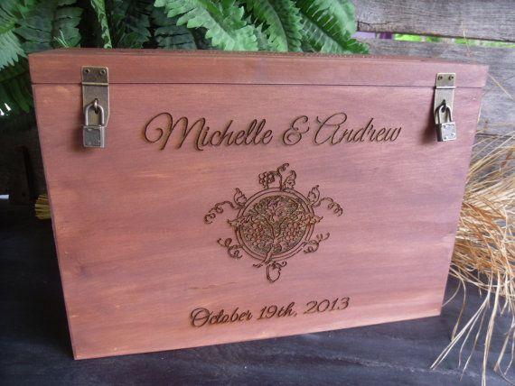 Wedding Wine Box and Card Box Custom Made and by willowroaddesigns, $89.00