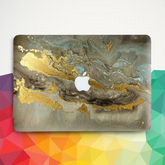 Marble Macbook case Gold Macbook Pro 13 inch 2018 Air 13 Pro 15 2019 Macbook 12 inch Girl Dark Marble Girly Glam Chic Aesthetic Hard cover