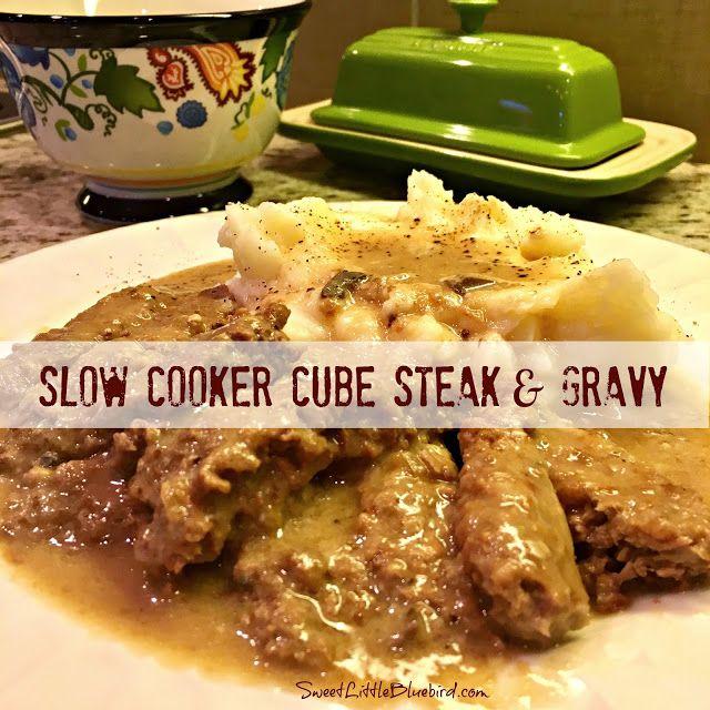 Sweet Little Bluebird: Slow Cooker Cube Steak and Gravy (Quick & Easy)