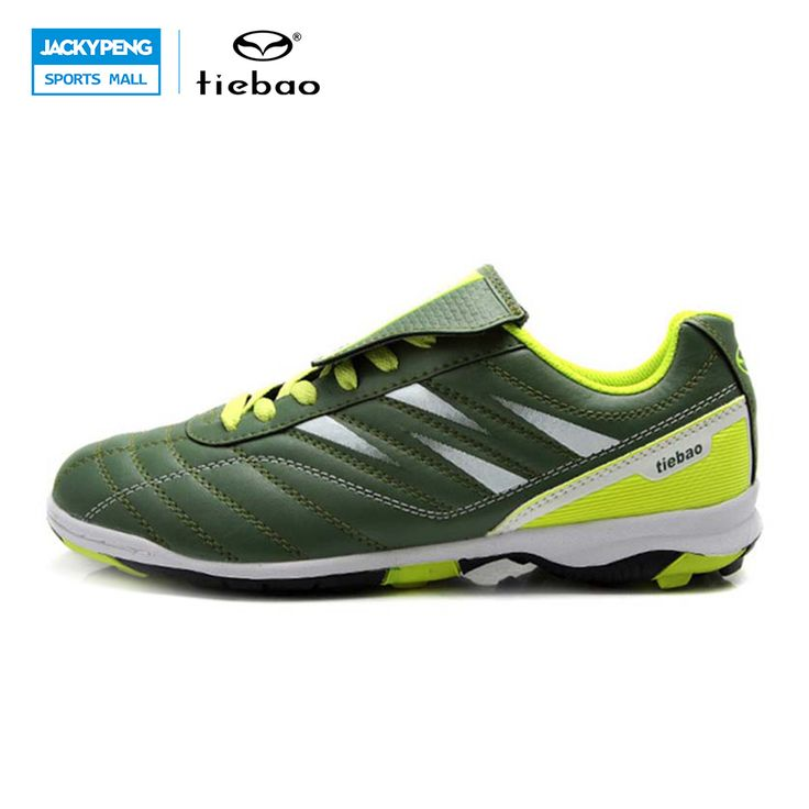 TIEBAO Professional Outdoor Soccer Shoes TF Turf Sole Football Shoes Sneakers Children Kids Teenagers Athletic Training Shoes