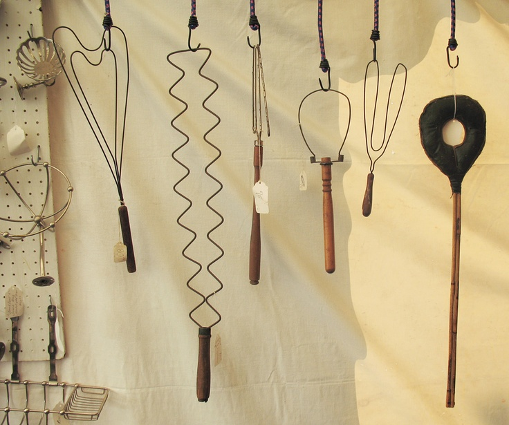 Antique rug beaters at the Brimfield Flea Market, Brimfield, MA 2008, Photo by Tamar Stone