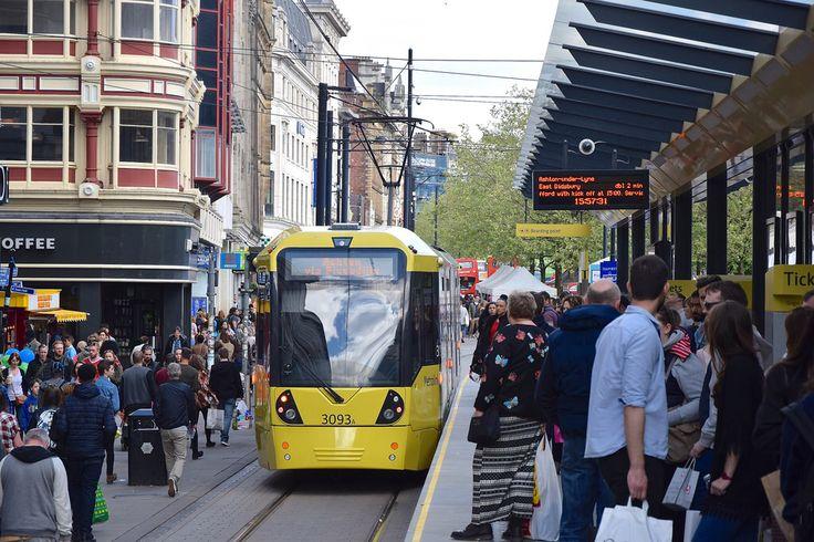 Market Street. Manchester Metrolink.