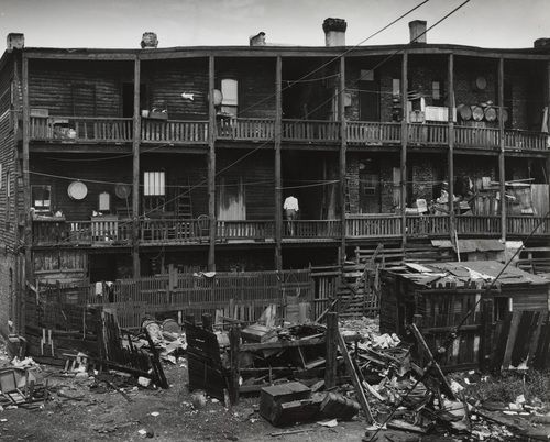 """Andreas Feininger. The """"Golden Flats,"""" South Side, Chicago. 1950"""