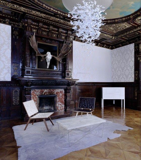 Gentlemen's office interior by Pudelskern