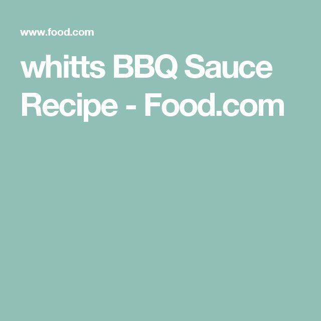 whitts BBQ Sauce Recipe - Food.com