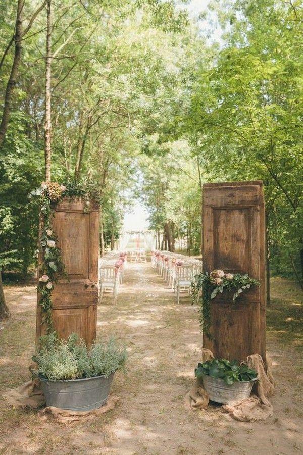 20 rustikale Hochzeitszeremonie-Eingangs-Ideen im …