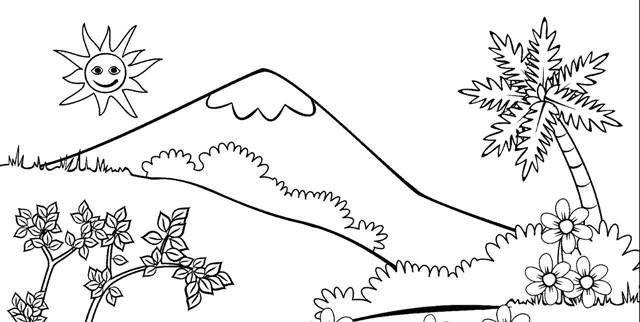 Keren 30 Gambar Pemandangan Pegunungan Kartun Di 2020 Dengan