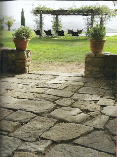 Lovely old stone patio