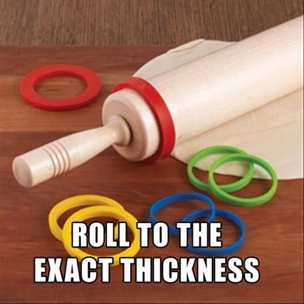Rolling pin that rolls to the exact thickness