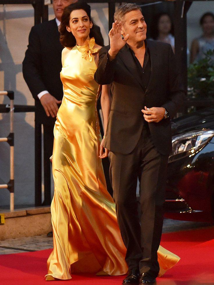 アマル・クルーニーの勝負ドレスは「メゾン マルジェラ」の特別デザイン!