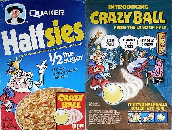 Quaker cereal boxes   Slideshow of images uploaded for Halfsies from Quaker