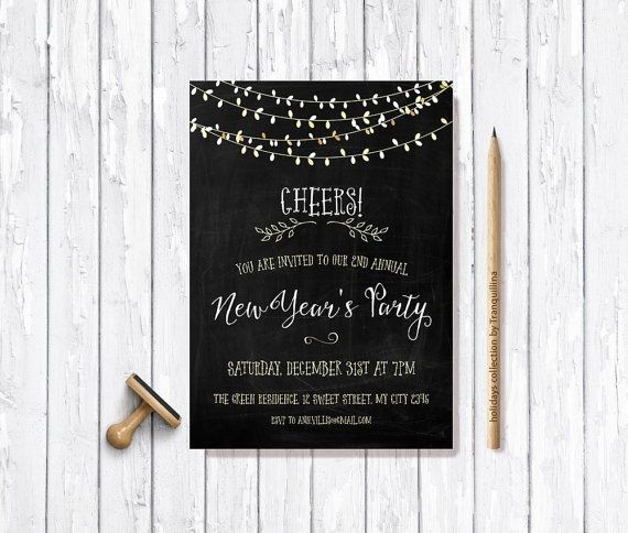 25 best New Year invitations images – Free New Years Eve Party Invitations