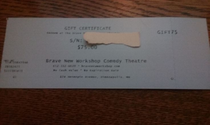awesome Brave New Workshop Comedy Theatre Gift Certificate   Check more at http://harmonisproduction.com/brave-new-workshop-comedy-theatre-gift-certificate/