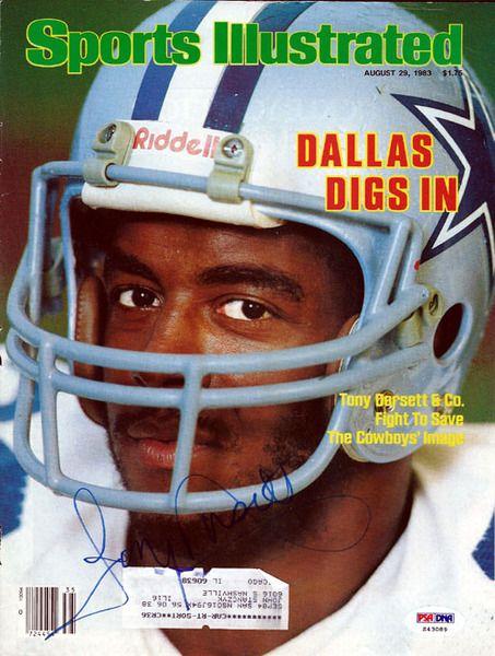 Tony Dorsett Autographed Magazine Cover Cowboys PSA/DNA #S43089