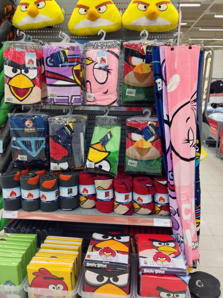 Angry Birds towels and blankets
