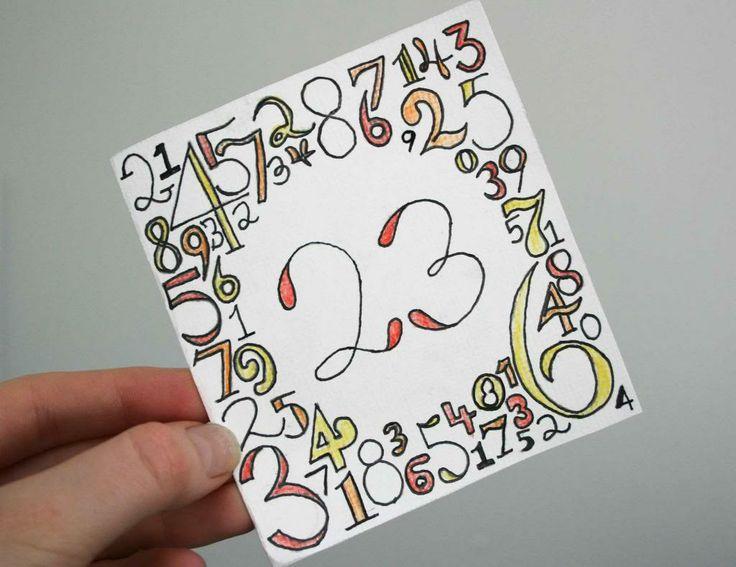 23rd birthday card