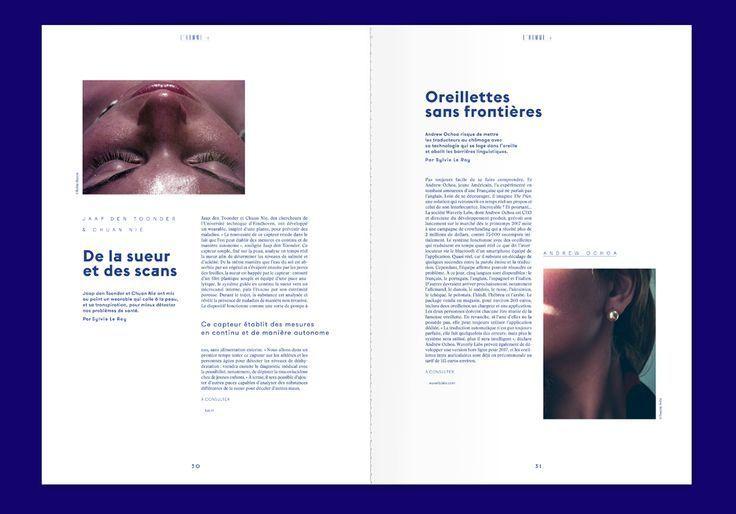 L'ADN n°8 on Behance #layout #simple #editorial #minimal