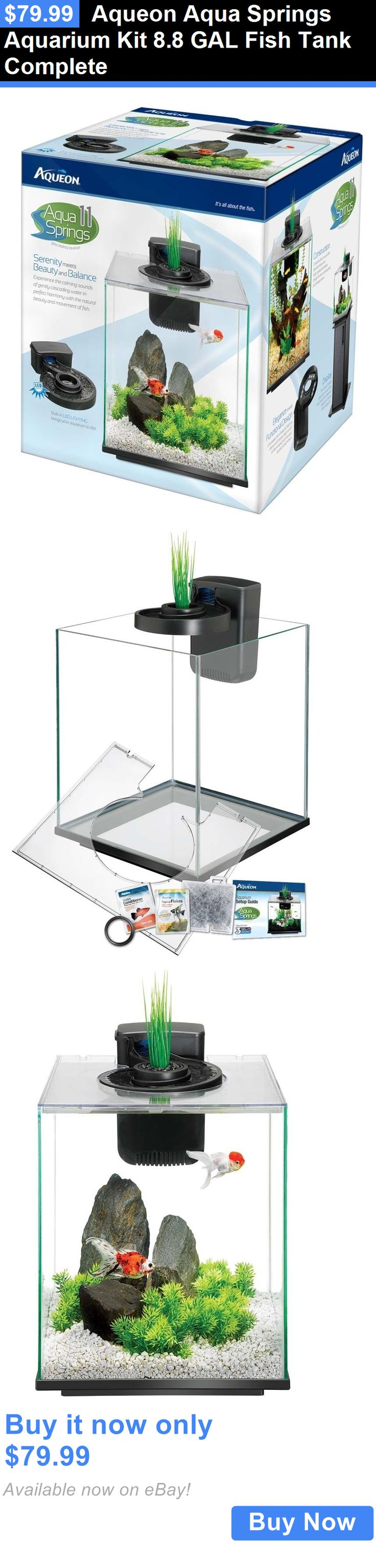 Aquarium fish tank complete system - Animals Fish And Aquariums Aqueon Aqua Springs Aquarium Kit 8 8 Gal Fish Tank Complete Buy It Now Only 79 99 Animals Fish And Aquariums Pinterest