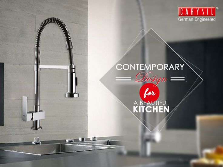 Our Maximus faucet is the best partner for your kitchen sink.   #CarysilKitchen #Faucet #Kitchen