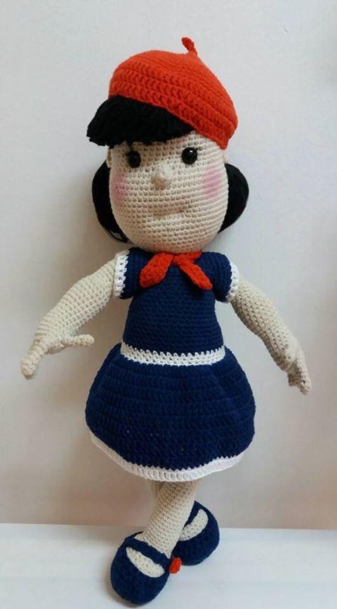 Crochet Handmade Sailor Doll