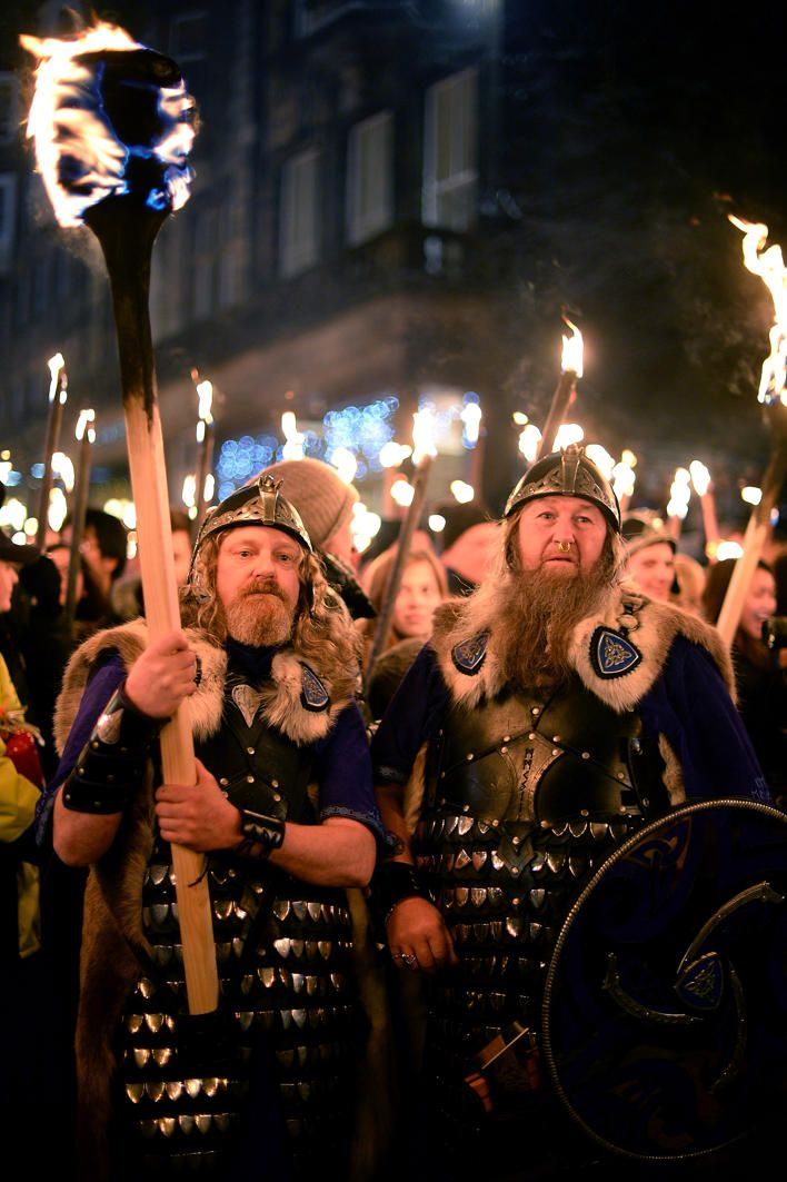 Vikings come out for 2013 Hogmanay celebrations in Edinburgh, Scotland