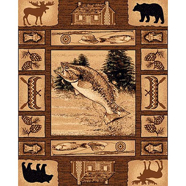 DonnieAnn Lodge Design 363 Fishing Area Rug