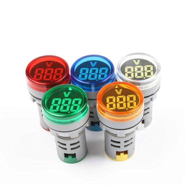 New 220v Ac 22mm Round Led Mini Digital Display Voltmeter Voltage Monitor Indicator Signal Light Tester Measuring Tool Min Review Measurement Tools Mini Tester