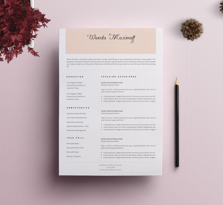 Professional Resume/CV Template - 9 by SignatureResume on @creativemarket