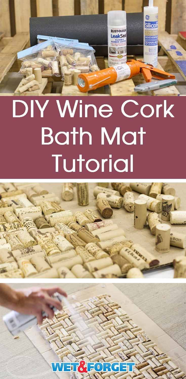 Diy Cork Bath Mat And Other Bath Mat Ideas Leftover Wine Cool Diy