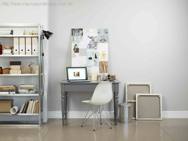 Creative workspace, Jotun LADY 9915 Morgendis