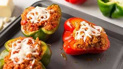 Stuffed Peppers with riced cauliflower and sweet potato