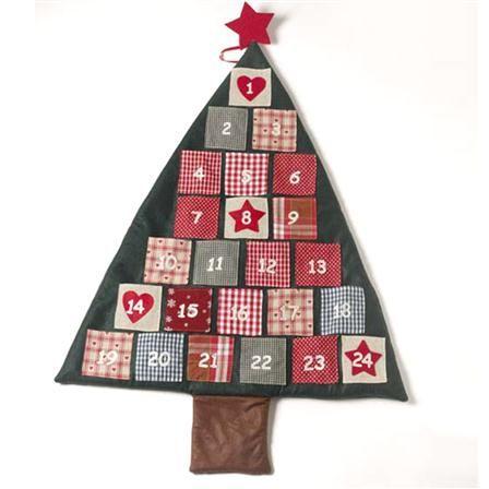 Heaven sends calendrier de l 39 avent arbre en tissu couture pinterest advent calendars - Arbre de l avent ...