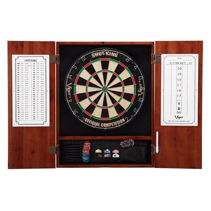 Metropolitan Dart Board Solid Wood Cabinet for Bristle Dart Boards - 40-0405
