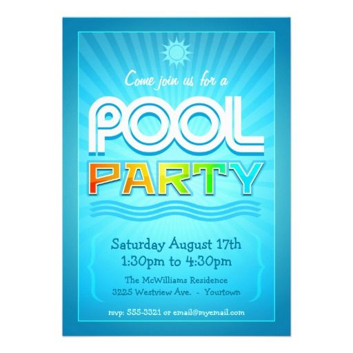 19 best Resources images on Pinterest Flyer template, Font logo - pool party flyer template