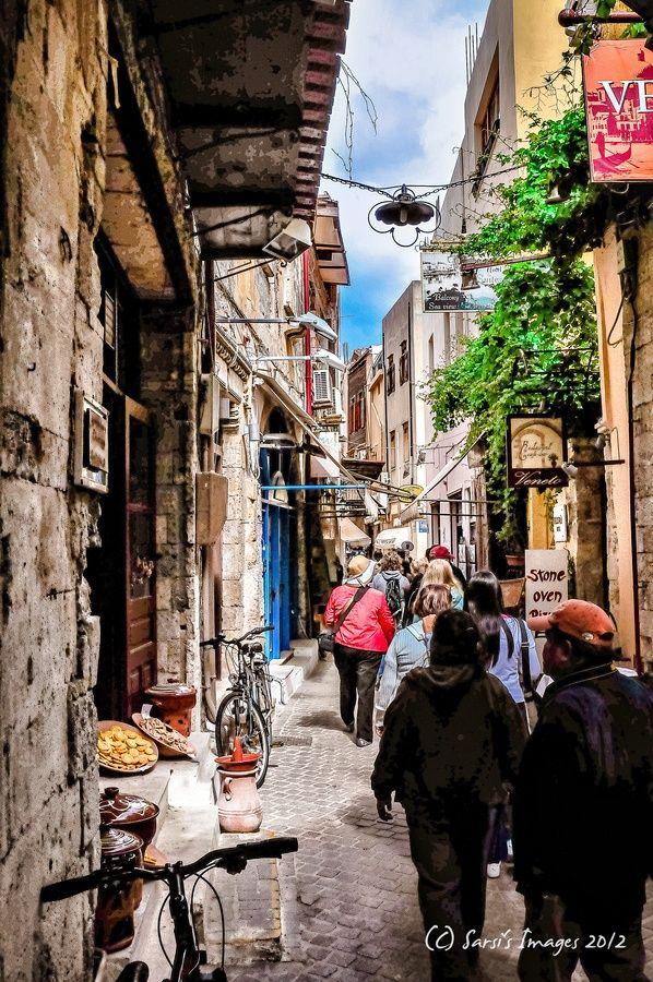 Streets of Hania, Crete, Greece