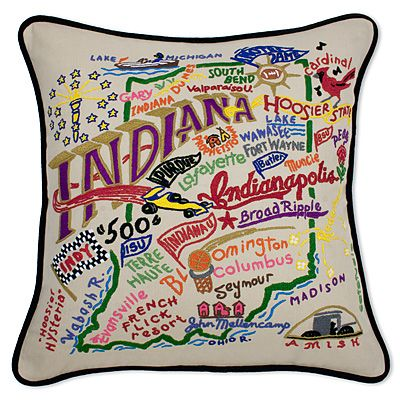 Embroidered State Throw Pillows : 21 best images about Vintage Souvenir State Pillows on Pinterest Shops, Vintage scarf and Utah