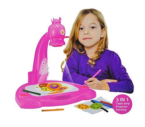 Smart Projector Painting 3-in-1 art set for kids ages 3  Kids Draw and learn with table lamp, projection and painting includes 3 lantern slides, 6 water pens and 21 patterns. *** Check this awesome product by going to the link at the image.