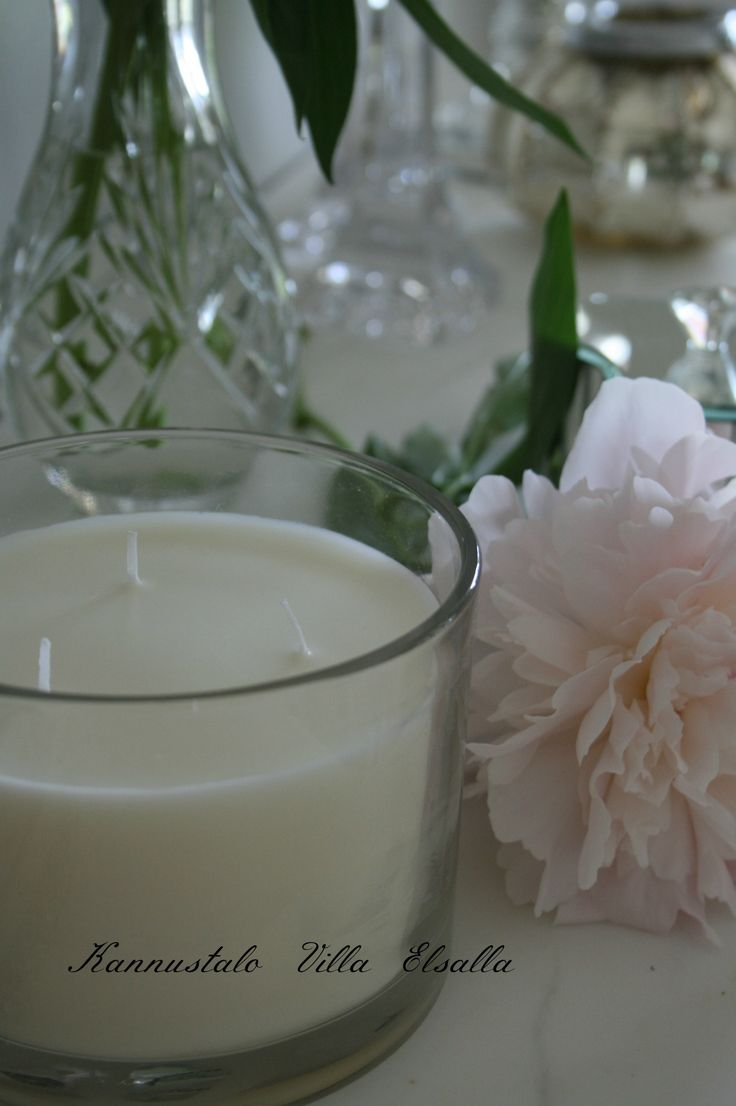 Candle and peony