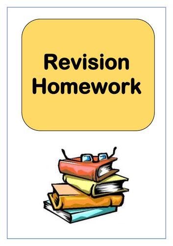 Revision homework - Maths