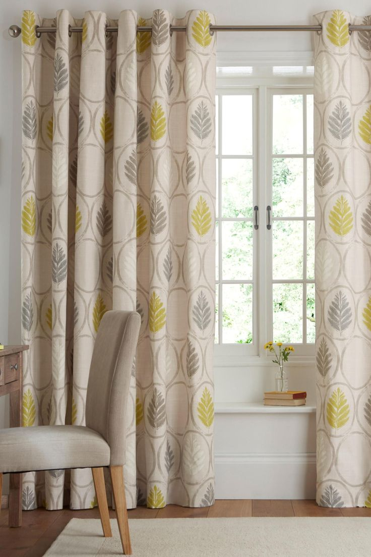 Buy Textured Leaf Print Eyelet Curtains from the Next UK online shop