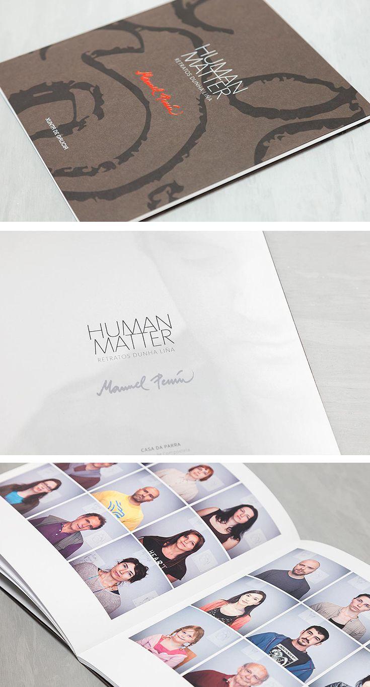 Libro para la exposición Human Matter de Manuel Penín en la Casa da Parra de Santiago de Compostela.