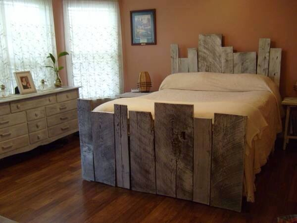 barnwood bedframe love it