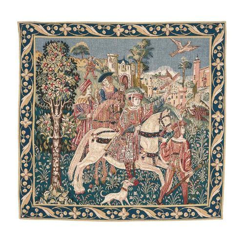 The Departure from the Castle Tapestry is a beautiful tapestry, part of the tapestry collection at English Heritage. Buy the Departure from the Castle Tapestry online at the English Heritage shop. Next day delivery available,
