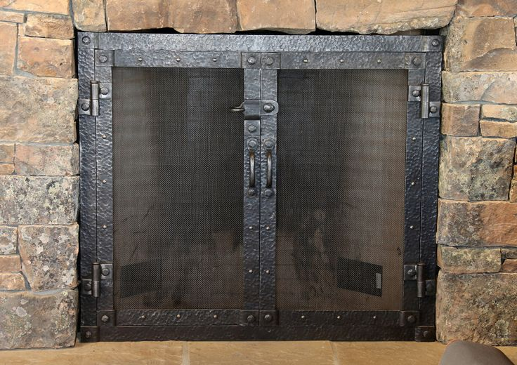 Fireplace doors.