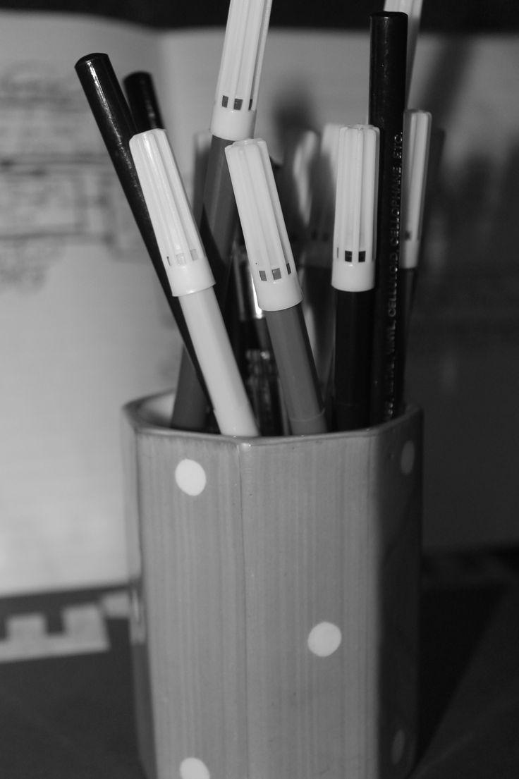 Project 'Sound Check' pre-processing period. #SketchPens #Monochrome